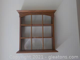 Wooden Hanging Shadow Box W/3 Shelves