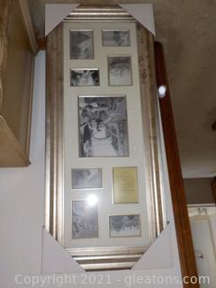 "Elegant Photo Collage Frame New (22"" W x  52.5"" H)"