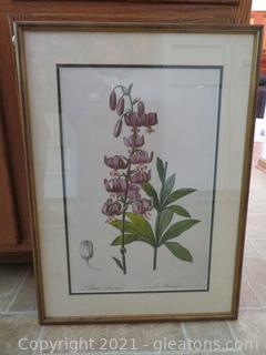 Beautiful Lilium Martagon Painting and Brown Mirror )(See picture of brown mirror in photos
