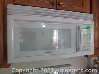 White Kenmore Microwave (Over The Range)
