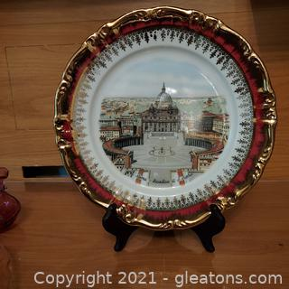 Beautiful Vintage Souvenir Plate From St.Peter's