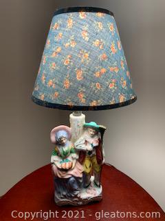 Small Vintage Porcelain Dresser Lamp