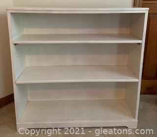 White Three Shelf Bookcase