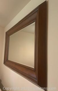 Oversized Mahogany Mirror
