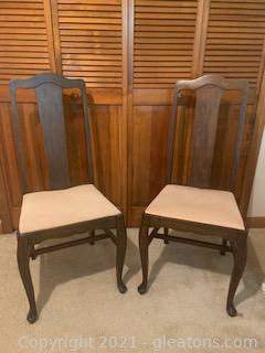 Pair of Wooden Desk/Dining Chairs