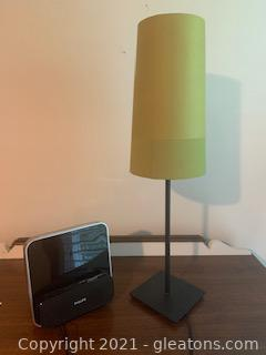 Philips Docking Station and Small Ikea Table Lamp