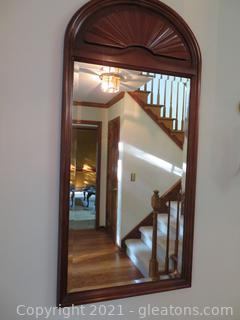 Crowned Top Wall Mirror