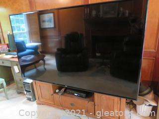 """65"""" LG TV and Entertainment Center"""