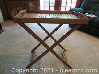 Foldable Teak Side Table
