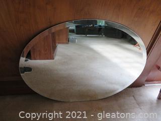Nice Oval, Beveled Mirror