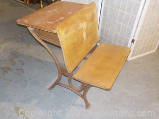 Vintage Wooden School Desk (Heywood-Wakefield)