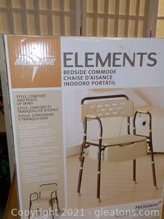 """Medline NIB Elements Bedside Commode- Adjustable in 0.5"""" Increments"""