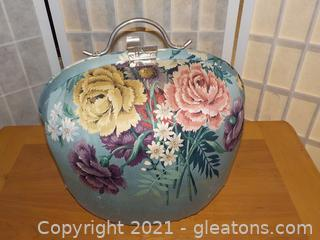 Vintage Satin-Lined Pillow Sewing Purse