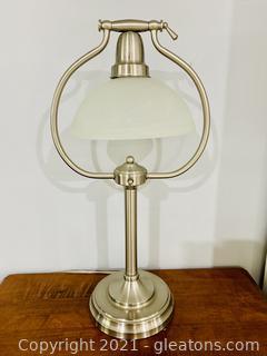 Stainless Tiltable Dome Desk Lamp