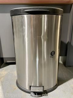 Stainless Black Top Garbage Can