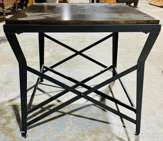 Mod Square Side/ End Table with Metal-X Legs