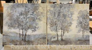 2 Muted Color Tree Scene Print