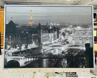 Black and White Paris City Print