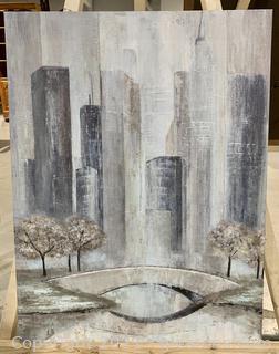 Central Park City Scape Print on Canvas