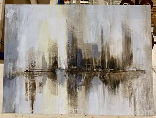 Muted City Scape Canvas Print