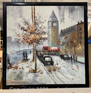 Vibrant London Canvas Painting