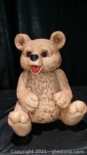 1985 Home Interiors Teddy Bear Statue