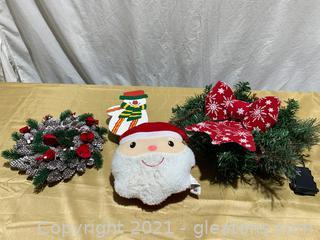 Two Christmas Mini Wreaths and Christmas Decor