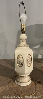 Neoclassical Ivory Table Lamp with Gold Gilding