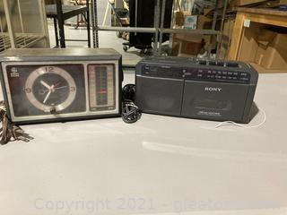 Sony Dream Machine Radio Clock GE Clock Radio Lot of 2