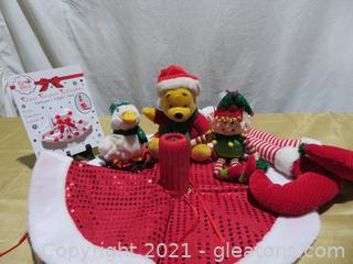 Lot Red and Green Christmas Decor