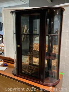 Bombay Co Mahogany Miniature Curio Cabinet