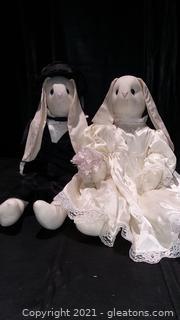 Bride and Groom Rabbit Dolls