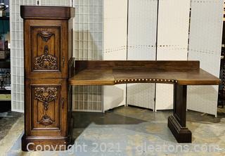 Timeless Belgium Antique Walnut Desk