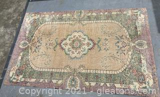 Colorful Stonewashed-Look Area Rug - Knotted / Low Pile