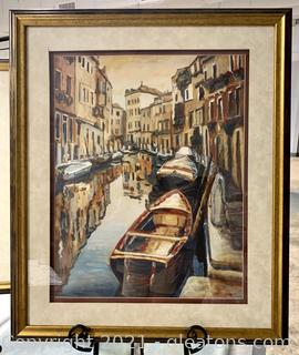 Nicely Framed Venice Evening Reflections Print