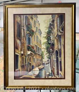 Nicely Framed Venice Afternoon Reflections Print