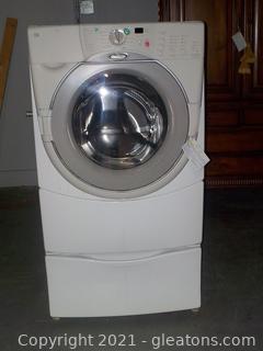 Whirlpool Duet HT Washing Machine with Pedestal Storage Drawer