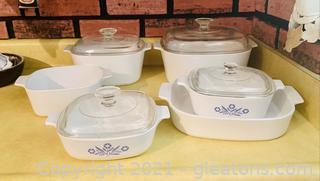 Vintage Cornflower Corningware Set