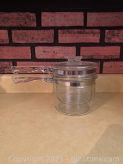 3 Piece Glass Pyrex Double Boiler