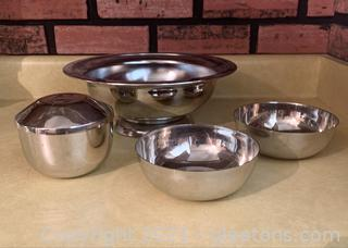 4 Piece Stainless Bowl Set