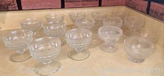Charming Glass Sorbet 17 Piece Set