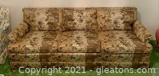 Floral Striped 3 Seat Sofa