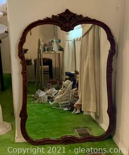 Wood Carved Timeless Wall Mirror