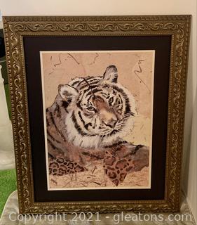 Captivating Framed Tiger Print