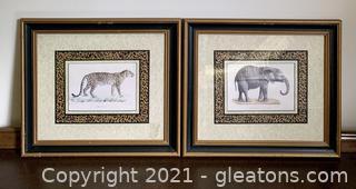 2 Stunning Framed Animal Prints