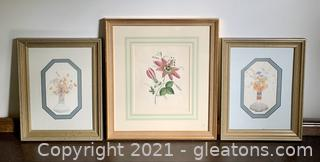 Exquisite Gold Framed Water Color Prints