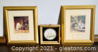 3 Historical Framed Prints