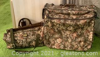 Destination 2 Piece Tapestry Travel Luggage