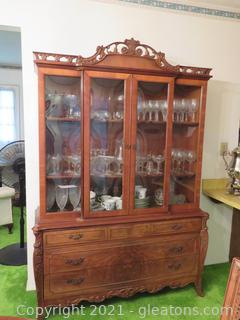Lovely Maple China Cabinet (Contents not Included)