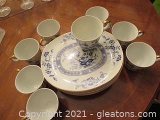Beautiful James Roberts' Tea Plates and Cups